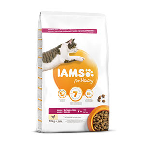 Budgetprodukten: Iams for Vitality Cat Senior Chicken