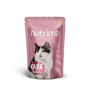 Mellanprodukten: Nutrima Care Kitten Kyckling, Kalkon & Anka